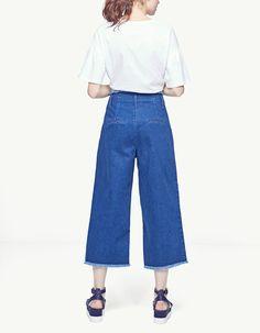 Pantalón flare high waist - Jeans | Stradivarius Colombia