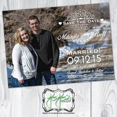 Shabby Chic, Country, Full Photo Save the Date Card (Digital File) by jojosdesigns on Etsy