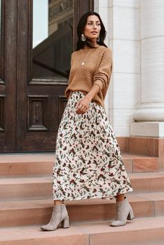Maxi Skirt Outfits, Winter Skirt Outfit, Midi Skirts, Long Skirts, Maxi Skirt Fashion, Jean Skirts, Modest Skirts, Floral Skirts, Denim Skirts