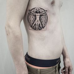 vitruvian man tattoo - Google Search