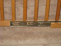 Use full extension drawer slides to make a sliding gate.