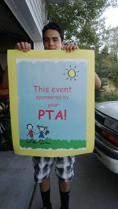PTA poster for every event sponsored!!