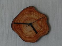 FREE SHIPPING. Wooden clock rustic wall clock by Woodur on Etsy