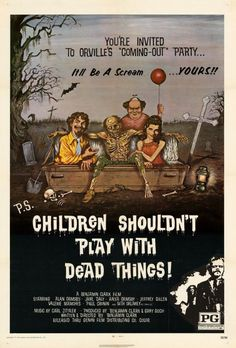 Children Shouldn't Play With Dead Things 27x40 Movie Poster (1972)