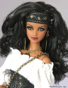 * TATIANA *  Ooak Exotic GYPSY Barbie by NIKA Designs - Raven Hair Steffie