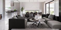 Projekt domu HomeKoncept-26 165,36 m2 - koszt budowy - EXTRADOM Sofa, Couch, Outdoor Furniture Sets, Outdoor Decor, Bungalow, House Plans, Modern, Kitchen, Farm 2