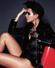 Please continue to bless us with your existence Ruby. 🙌 Ruby Rose Looks So Goddamn Good In GQ Australia It Hurts Ruby Rose Photoshoot, Mtv, Gq Australia, Australian Models, Batwoman, Orange Is The New Black, Androgynous, My Crush, Girl Crushes