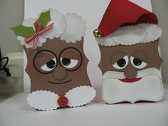 African American Top Note Santa and Mrs. Claus-