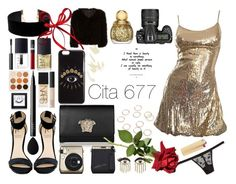 """Cita 677"" by cate-ferrari ❤ liked on Polyvore featuring Rihanna For River Island, beautyblender, NARS Cosmetics, Versace, Sydney Evan, Jocelyn, LULUS, Cosabella, Kenzo and Nikon"