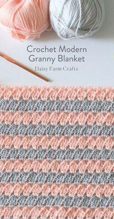 Free Pattern - Crochet Modern Granny Blanket