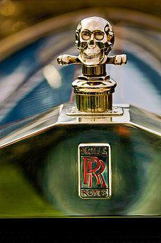 Jill Reger - 1912 Rolls-Royce Silver Ghost Cann Roadster Skull Hood Ornament