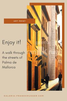 A stroll through the streets of Palma is always something special. The atmosphere that emanates from the old town is simply indescribable. A typical street is captured on this art print and makes you want to discover the city yourself #palma #street #walk Beautiful Islands, Beautiful Places, Bull Painting, Mallorca Island, Detailed Paintings, Majorca, Old Town, Art Gallery, Old Things
