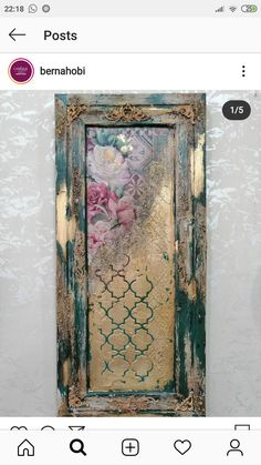 Decoupage Art, Decoupage Vintage, Vintage Diy, Funky Painted Furniture, Barn Wood Crafts, Texture Art, Art Techniques, Painting On Wood, Altered Art