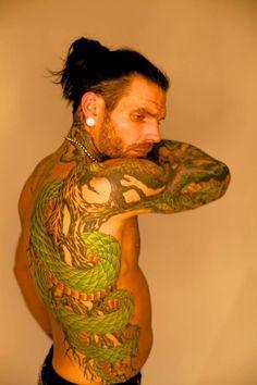 Jeff Hardy tattoo.