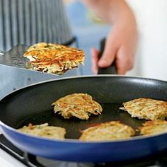 The reserved potato starch helps bind the potato-onion mixture and adds heft to…