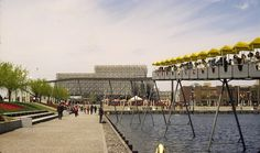 Netherlands Pavilion, Expo 67 with minirail Expo 67 Montreal, Montreal Canada, Lounge, Expo 2015, World's Fair, Landscape Photos, Futuristic, Netherlands, Pop Culture