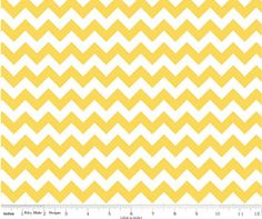 Small Chevron Yellow  by Riley Blake Designs Fat by Halfmoonquilts