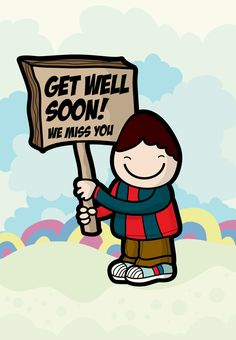 Get Well #Card Free Printable We Miss You Greeting Card