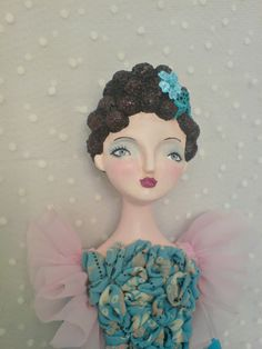 Ooak hanging art doll  Tamara by yalipaz on Etsy