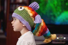 Crochet Fish Hat Slouchy Hat by LionandLambPhotos on  $28