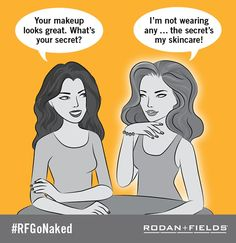 """Wish you had a dollar for every compliment you've received about your skin since using your Rodan + Fields regimen? """"PIN"""" this image and also comment on how you achieve the best skin of your life using hashtag #RFGoNaked. For more information stop by my website! http://tinatruhlar.myrandf.com/"""
