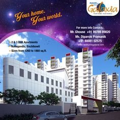 Hello #Hyderabadies, get Ready to experience the new life style of living from #RamkyEstates!! Presenting #RamkyOneGalaxia @Gachibowli, Hyderabad. For More Info Visit www.ramkyonegalaxia.com