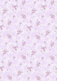 fleurettes mauve/parme
