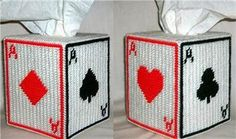 Everything Plastic Canvas - Aces Tissue Box Cover