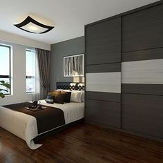 You don't have to spend a ton of money to live in a beautiful home. This list of 10 HDB homes is proof of that, especially the last one. Sliding Door Wardrobe Designs, Wardrobe Design Bedroom, Bedroom Cupboard Designs, Bedroom Bed Design, Closet Designs, Home Bedroom, Modern Bedroom, Wardrobe Laminate Design, Bedrooms