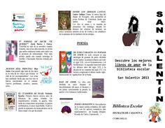 Guía de Lectura editada con motivo de San Valentín 2013 de la biblioteca escolar del IES Matilde Casanova