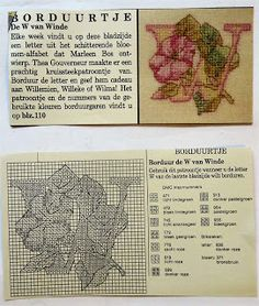 Digitale Bibliotheek: 3apr17 Embroidery pattern/ Borduurpatroon alfabet ...
