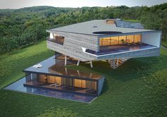 45 luxury modern house exterior design ideas – My Ideas Modern Architecture House, Residential Architecture, Modern House Design, Amazing Architecture, Architecture Design, Modern Houses, Architecture Definition, Computer Architecture, Contemporary Houses