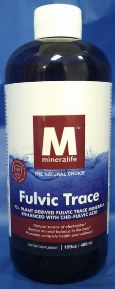 Mineralife has one of the highest quality fulvic acid supplements available to consumers today.  They use only pure, cold water during processing - go to our website at Healthshop101 by clicking the picture for more details on the potential benefits to using fulvic acid as a dietary supplement.