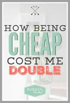 Do you normally focus on quality or cost? There are just some things in life you should not try to be cheap on. Here's how to think about your expenses, before they cost you more than necessary! Money Saving Challenge, Money Saving Tips, Money Tips, Save Money On Groceries, Ways To Save Money, Budgeting Finances, Budgeting Tips, Cash Envelope System, Thing 1
