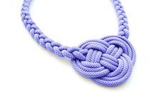 Lavender violet knot necklace, rope jewelry, purple cord, knotted necklace, braided necklace, summer trends, gift for her