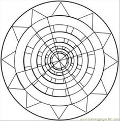 Kaleidoscope Coloring Pages for Adults Find awesome coloring pages at TheColoringBarn.com!