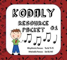A TON of resources for a Kodaly Classroom. Packet #1 includes melodic prep  practice for Sol  Mi, and rhythmic prep  practice for Ta  Ti-Ti. Includes visuals, SMART Board  PowerPoint manipulatives for melody, and game directions with recordings perfect for leaving for a non-music sub!