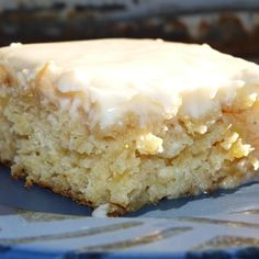I'm sure there is an official name to this cake, but I grew up with it only being called anti-crabby cake because no matter how you were feeling, this cake always made you feel better. It still does the trick for me! It is simple, unique, and delicious!