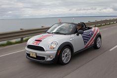 Stars & stripes Mini Cooper, happy of July! Mini Paceman, Mini Clubman, Convertible, Fiat Abarth, Mini Me, Dream Cars, Stripes, Auto Mini, Magic