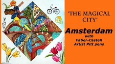 Colouring The Magical City With Faber Castell Pitt Artist Pens