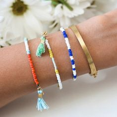 Pin for Later: Procrastinated? DIY These Stylish Last-Minute Gifts Today Easy Beaded Bracelets