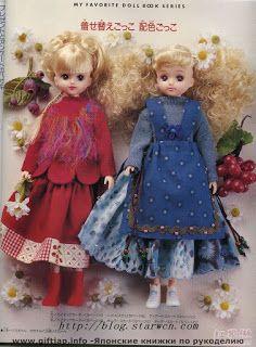 Dollyta: Patrones de revistas y libros japoneses completos para bjd, blythe, pullip, barbie..etc~