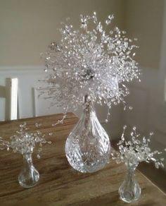 6ft Metallic Silver Iridescent Diamond Cut Crystal
