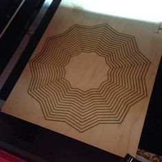 Laser cut bowl step 1 #woodworking #lasercut #madeinsc #yeahTHATgreenville
