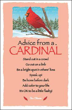 Advice from a Cardinal Frameable Art Postcard