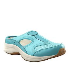 "Easy Spirit ""Waterfall"" Clogs in Blue Radiance"