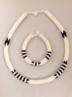 Zulu Beaded Rope Necklace / Headband & Bracelet by HouseofYimama