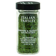Morton And Bassett Seasoning - Italian Parsley - .4 Oz - Case Of 3