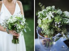 green bridal bouquet | photo by Ray + Kelly photography