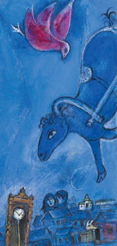 Chagall - I feel a certain uneasiness that I love when I look at his paintings.